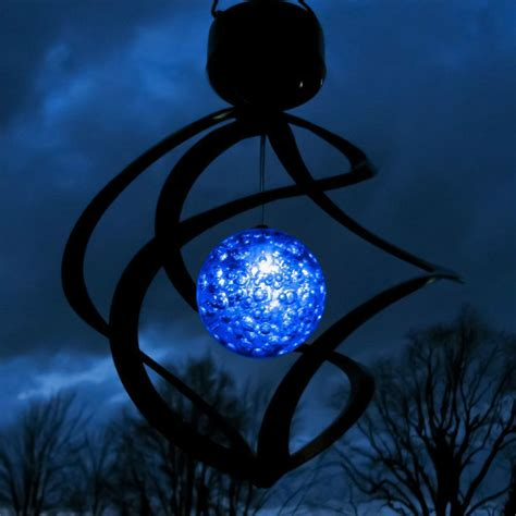 Hanging Led Lights Outdoor Colorful Outdoor Rotating Solar Led Wind Spinner Hanging Spiral Garden Lawn Light For Garden