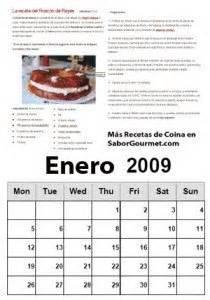 Calendario Enero 2009 Calendario Enero 2009 Saborgourmet