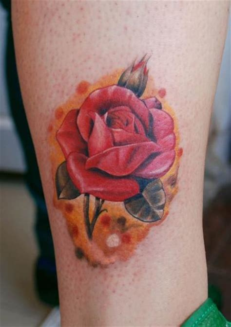 realistic leg flower tattoo by vaso vasiko tattoo