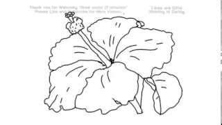 gumamela flower coloring page how to draw a hibiscus flower under 2 minutes