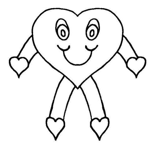 Heart Person Coloring Page | full page heart template clipart best