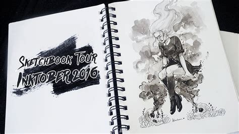 sketchbook inktober sketchbook tour inktober 2016
