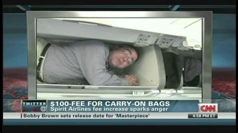 carry on fee spirit airlines 100 fee for carry on bags may 10 2012
