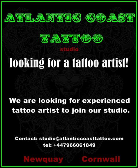 atlantic tattoo supply looking for a term artist big planet