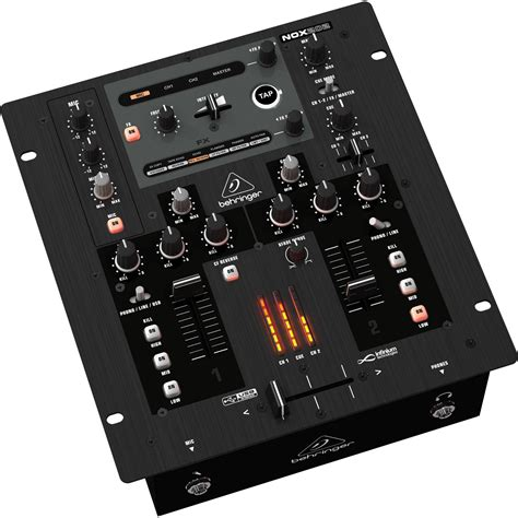 Mixer Behringer 2 Channel behringer pro mixer nox202 premium 2 channel dj mixer nox202 b h