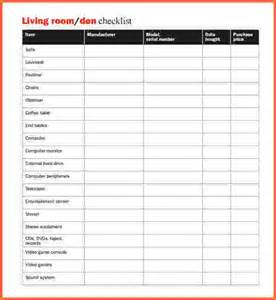 Home Contents Inventory List Template Home Inventory Checklist Printable Home Inventory