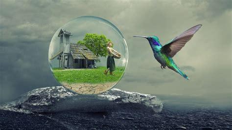how to make a globe planet photo manipulation in gimp bubble world photo manipulation photoshop tutorial cc