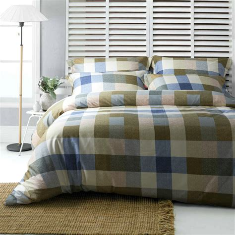 new design 100 cotton blue and green plaid comforter