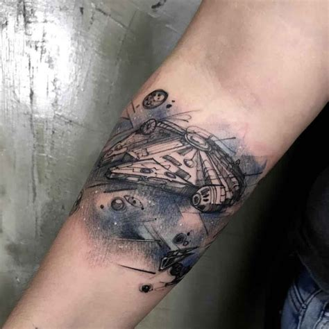 millenium falcon tattoo best tattoo ideas gallery
