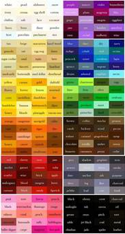 orange color names best 25 color names ideas on names for houses