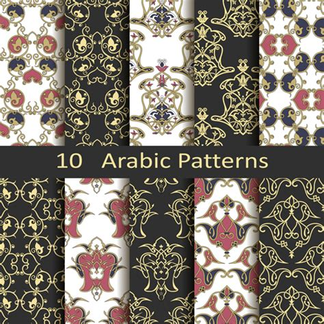 pattern photoshop arabic vector arabic style seamless patterns 03 vector pattern