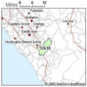 irvine california zip code map zip code irvine california map