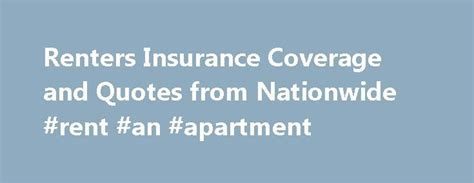 Apartment Insurance Nationwide 17 Best Ideas About Renters Insurance Quotes 2017 On