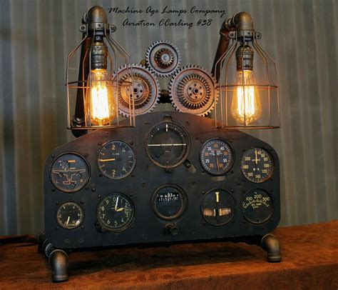 aircraft instrument panel lighting vintage world war ii military aircraft instrument control