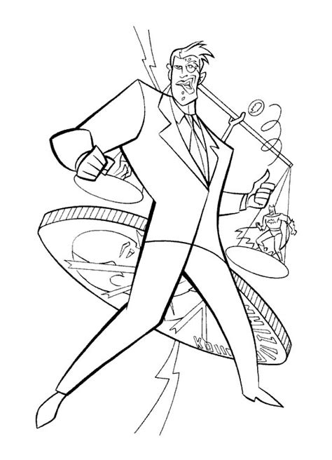 free coloring pages of batman and two face