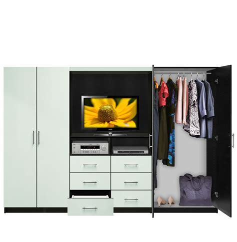 Aventa TV Wardrobe Wall Unit   Free Standing Bedroom TV