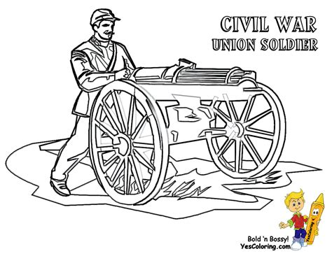 coloring page military army picture civil war free