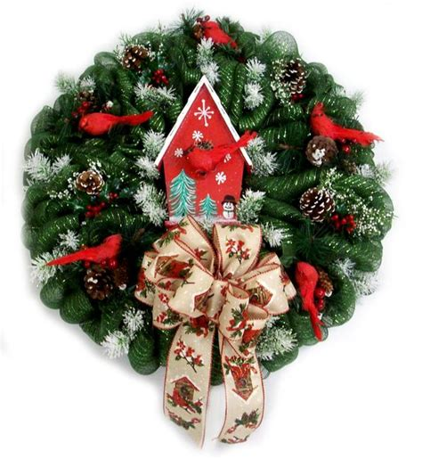 christmas birdhouse arrangement designed by karen b a c