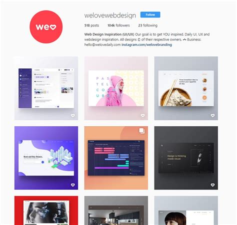 web design instagram the 5 best instagram pages to follow about web design