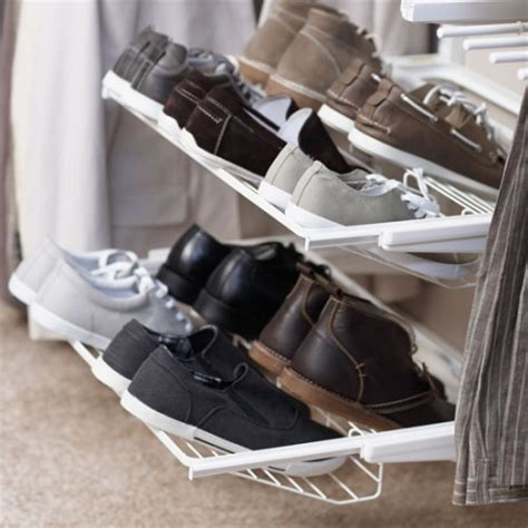 howards storage shoe rack howards storage world elfa gliding shoe rack for flat