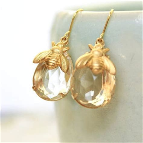 themes of gold bug best honey bee earrings products on wanelo