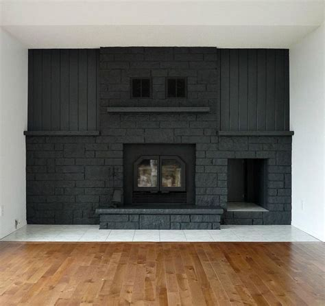 a bold black fireplace makeover design sponge before after makeovers
