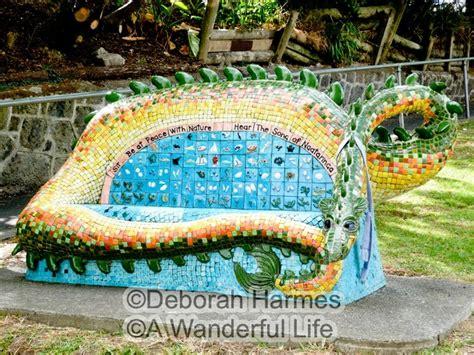 mosaic benches mosaic bench gardeners eye candy pinterest