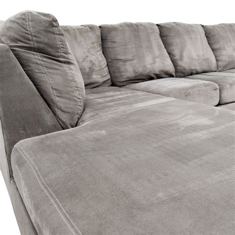 living spaces chaise sofa 56 living spaces living spaces zella charcoal