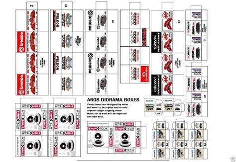 printable diorama templates 1 18 diorama brakes box set 23 for shop garage accessories