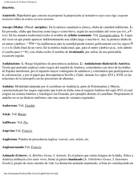 diccionario etimologico indoeuropeo de carreter diccionario t 233 rminos filol 243 gicos