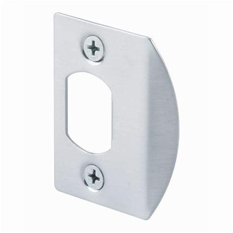 Stiker Stiker Plat prime line satin nickel standard latch strike plate e 2457