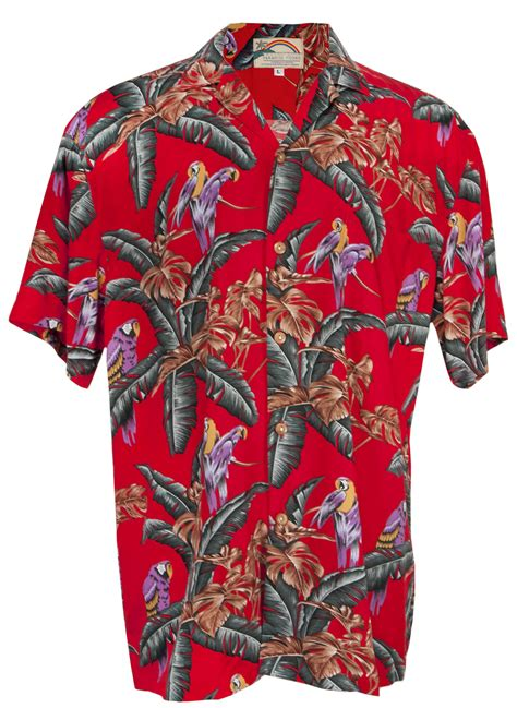 aloha shirt jungle bird magnum pi mens hawaiian aloha shirt in