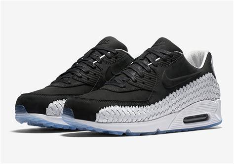 Nike Air Max 90 Woven All White nike air max 90 woven black white 833129 003 sneaker bar detroit