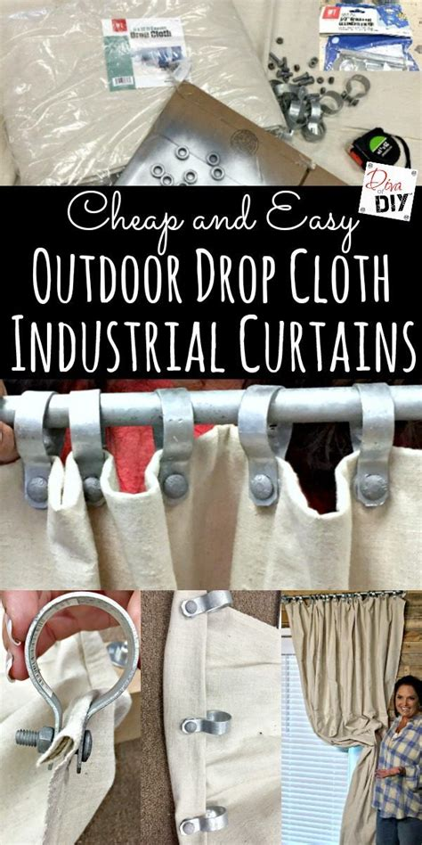 ways to hang drop cloth curtains 25 best ideas about patio curtains on pinterest outdoor