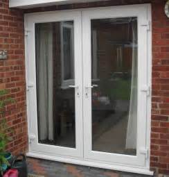 upvc doors white oak black grey patio