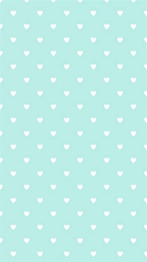 pattern cute blue mint blue heart shaped pattern iphone background iphone