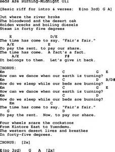 protest song beds are burning midnight lyrics and chords quot