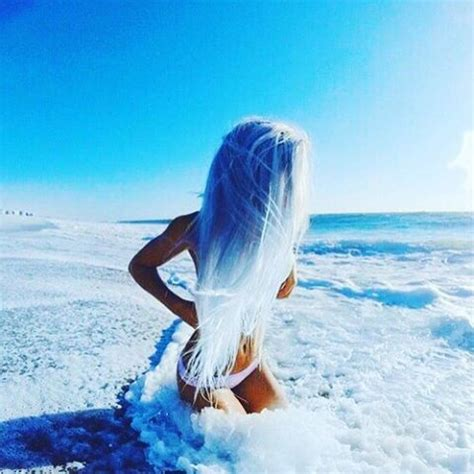 icy blue picture of icy blue to white ombre hair to remind of the ocean