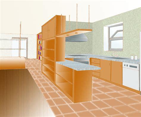 divisorio cucina soggiorno pareti attrezzate o mobili divisori