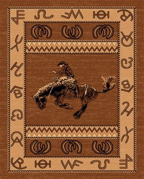 western themed rugs lodge cowboy western theme 5x8 area rug carpet great gift idea ebay