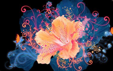 imagenes abstractas bellas vector de flores de color naranja y mariposas fondos de