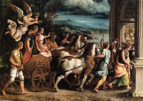 el triunfo romano triunfo de tito y vespasiano 243 leo de giulio romano 1499 1546 italy