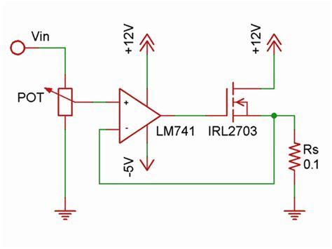 constant current resistor arduino mosfet sparkler electrical engineering stack exchange