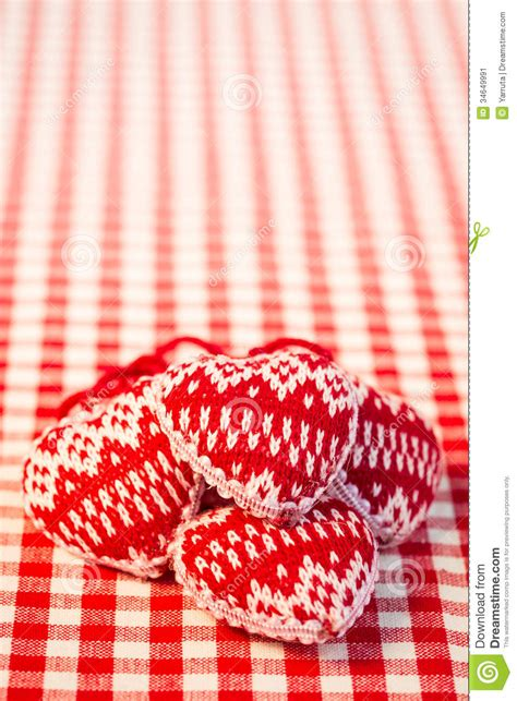 christmas tree decorations  red gingham tablecloth stock image image