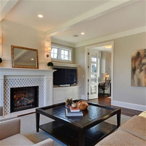 tv beside fireplace home