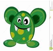 Monstruo Verde Lindo En Cortinas De Color Oscuro