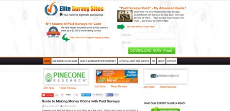Home Surveys For Money - cashcrate make money online with paid surveys free html