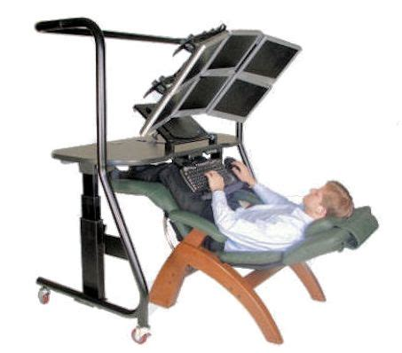 reclining office chair with monitor zero gravity workstation 5