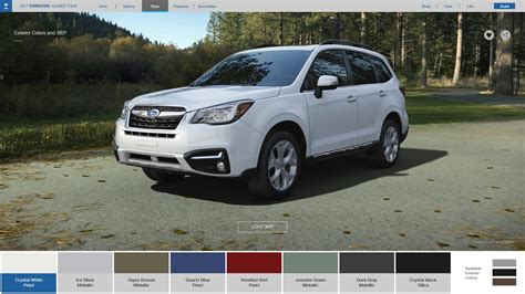 Subaru Forester Colors Options 2017 Subaru Forester