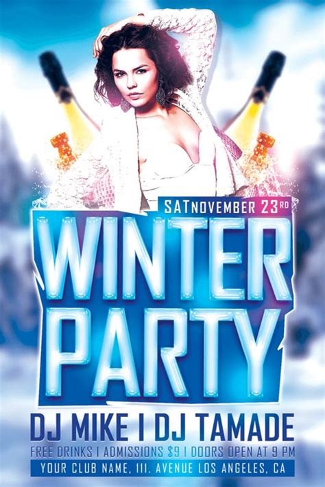 free club flyer templates top 10 free winter flyer templates for photoshop